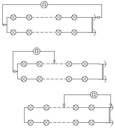 Электрическая схема цепи гирлянд